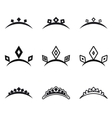 Decorative crowns for princess vector