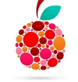Apple icon with dotted pattern vector