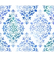 Watercolor seamless floral ornament vector