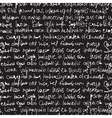Seamless writing pattern on black vector