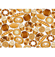 Seamless background with bakery products vector