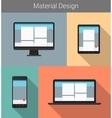 Flat modern responsive material design on various vector
