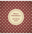 Vintage christmas card background vector