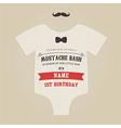 Funny vintage baby birthday invitation vector