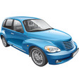 American retro styled compact automobile vector