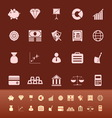 Finance color icons on brown background vector