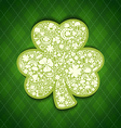 St patricks days card of white objects on irish vector