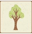 Abstract background with stylized tree in retro vector