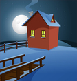 House in the snow vector