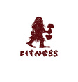 Fitness grunge caveman design template vector