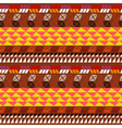 Seamless pattern with aztec drawing vector