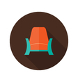 Armchair icon over brown vector