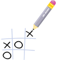 Naughts and crosses vector