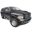 Black large pickup vector