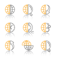 Abstract internet icons vector