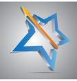 Star with arrow vector