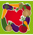 Fruit and vegetables background vector