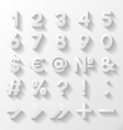 Set of decorative numbers and symbols vector