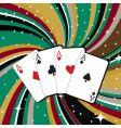 Gambling cards vector