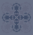 Blue abstract wild flower vector