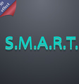 Smart icon symbol 3d style trendy modern design vector