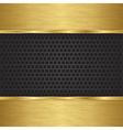 Abstract golden background with metallic speaker g vector