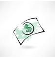 Paper dollar grunge icon vector