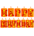 Birthday candle as greeting vector