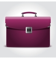 Business briefcase isolated on blue background vector