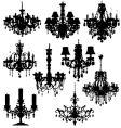 Chandeliers vector