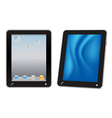 Touchscreen tablet computer vector