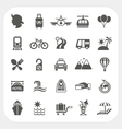Travel and transportation icon set vector