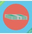 Web icon bundle of bank notes money hard cash vector