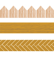 Seamless wood border vector