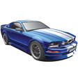 Blue muscle car vector