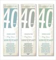 40 years anniversary retro banner set vector