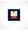 Club book in the square vector