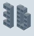 3d printer icon made with 3d cubes 3d printing vector
