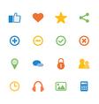 Icon mobile application vector