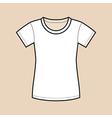 White blank shirt vector