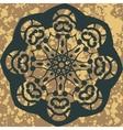 Mandala round ornament pattern floral design vector