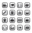Audio and video icons vector