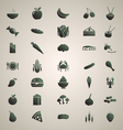 Foods silhouettes set 1 vector