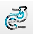 Embossed minimal style line diagram and stickers vector