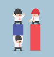 Businessman use his worker to carrying a business vector