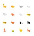 Icon pixel animal vector