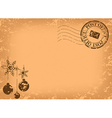 Christmas vintage postcard vector