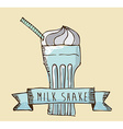 Milkshake design vector