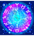 Watch with the astrological signs of the zodiac vector
