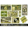 Vintage bio labels collection set vector